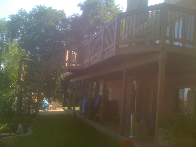rochester hills, oakland county stained deck