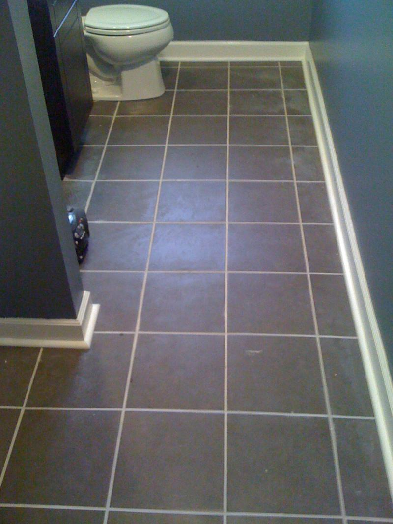 radiant heat bathroom floor in Bloomfield Hills