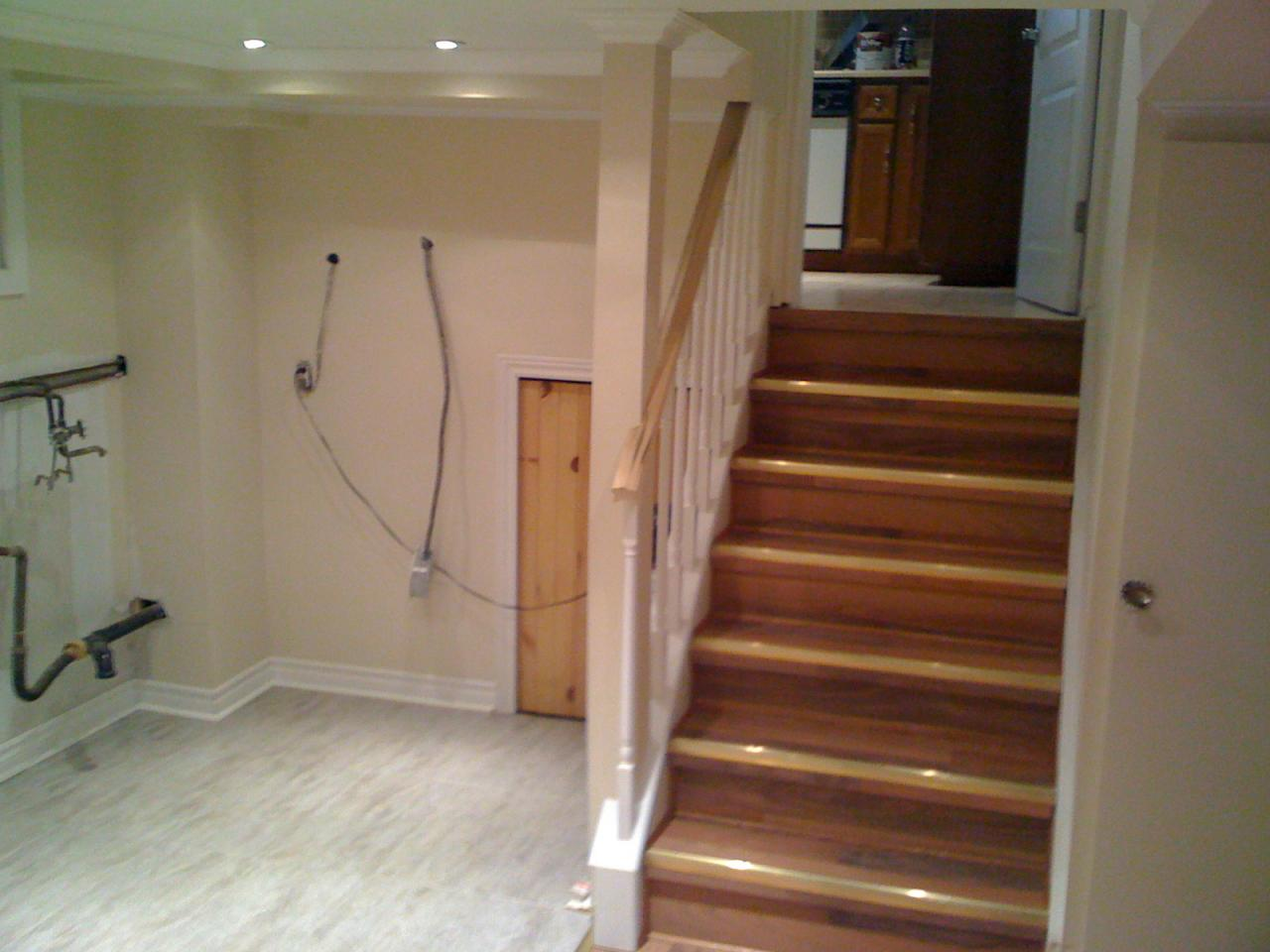 when finishing a basement be sure the stairs leading to it