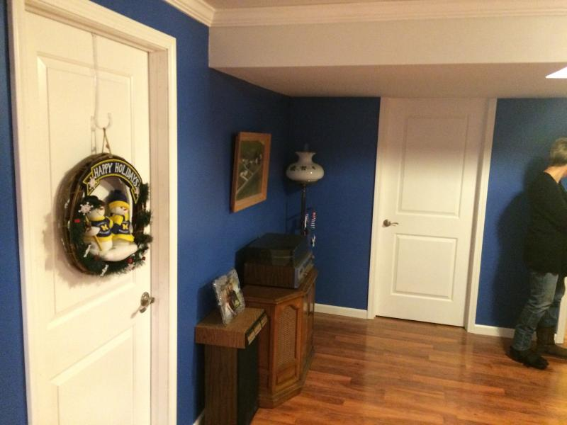 finish painting upon basement remodel completion