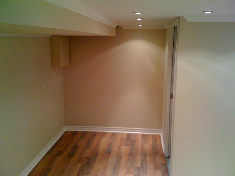 basement remodel completion