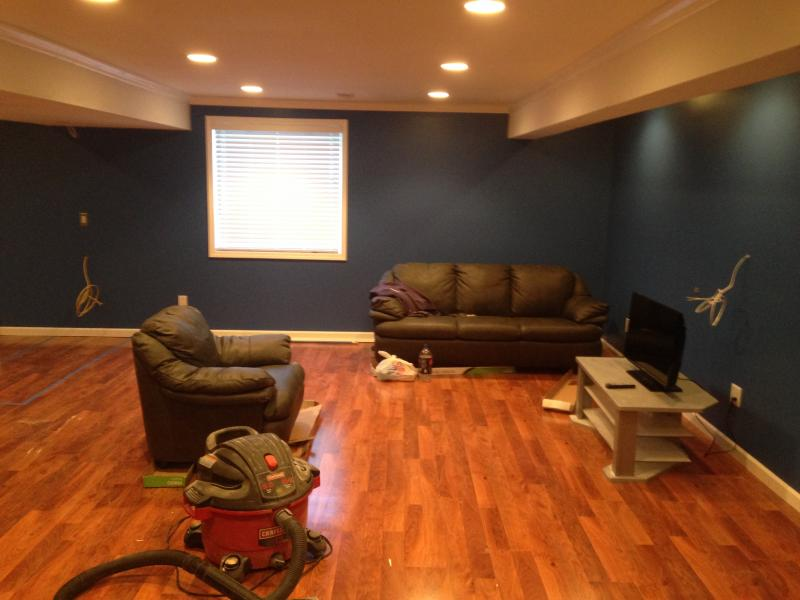 semigloss enamel on trim in basement