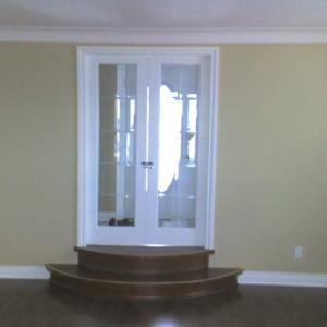 french door and stair installation