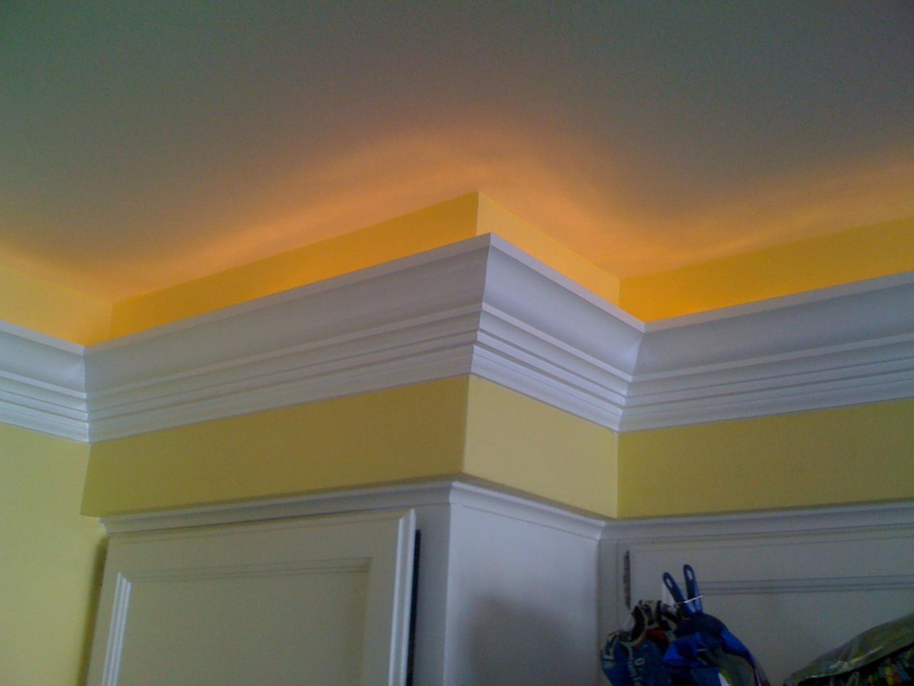 crown moulding lighting. Crown Molding Indirect Lighting In Kitchen Moulding