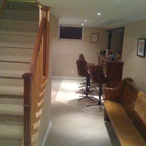 basement remodel in commerce twp